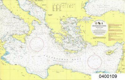 Croatian Nautical Chart Mediterranean General Map - Mediterranean ...