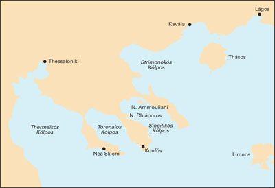Imray Seekarte Nordwest Agais Thessaloniki Khalkidhikon Pelagos